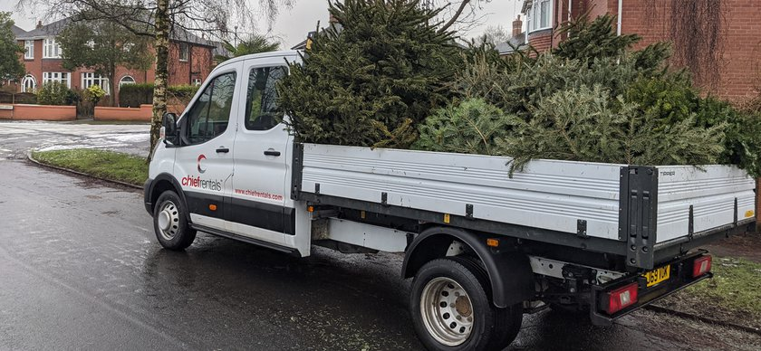 Van Recycling Christmas Tree Collection Charity